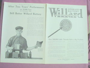 1917 Ad Willard Storage Battery Company, Cleveland