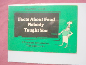 Reader's Digest Facts About Food Nobody Taught You 1977