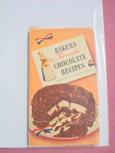 1945 Baker's Favorite Chocolate Recipes Cook Book