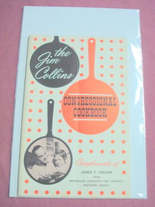 1962 Jim Collins Congressional Cookbook Republican Ct.