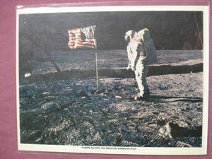 Color Print Apollo 11 Buzz Aldrin on the Moon