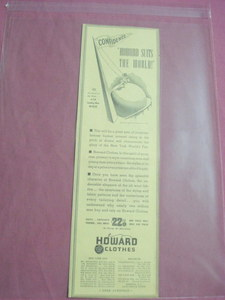 1939 New York World's Fair Howard Clothes Ad