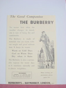 1939 Ad The Burberry Overcoat