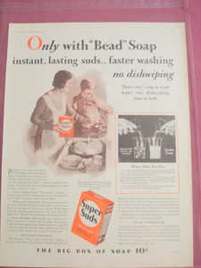 1930 Super Suds Dishwasher Soap Ad