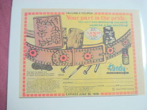 1976 Tandy Leather Company Belt & Wallet Kit Color Ad
