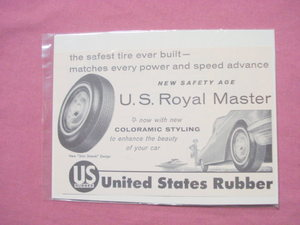 1956 Ad United States Rubber Tires U. S. Royal Master