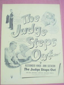 1949 The Judge Steps Out Movie Ad Ann Sothern