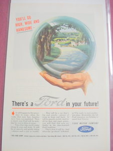 1945 Ford Motor Company Color Ad Ford In Your Future