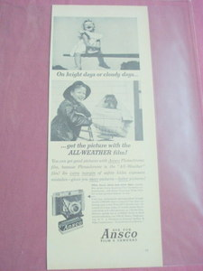 1949 Ansco Film and Cameras Ad