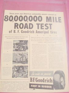 1940s Ad-B.F. Goodrich Ameripol Synthetic Rubber Tires