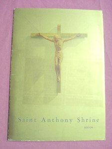 Saint Anthony Shrine Boston Vintage Catholic Booklet