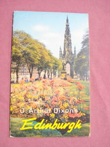 J. Arthur Dixon Edinburgh Pictorial Guide 1960's Softcover Book