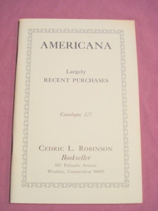 Americana Catalogue 127 on Antiquarian Books