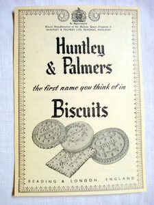 1957 Ad Huntley & Palmers Biscuits England