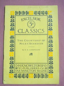 Excelsior 5 Cent Classics Courtship of Miles Standish by Longfellow