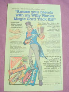 1982 Ad Willy Wonka's Candy Oompas Bottlecaps Skrunch
