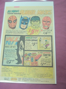 1979 Heroes World Superhero Rubber Masks Ad Spider-Man