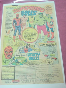 1979 Heroes World Mego Superhero Dolls Color Ad