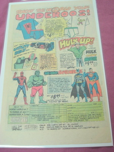 1980 Heroes World Die-Cast Superhero Ad Spider-Man Hulk