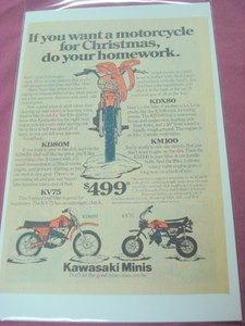 1979 Kawasaki Minis Motorcycle Color Ad