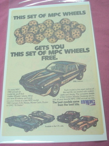 1979 MPC Model Kits Color Ad Featuring 1980 Camaro