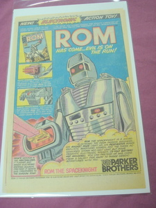1979 Rom The Spaceknight Superhero Toy Ad