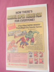1980 Spider-Man and Hulk Prestomagix Dry Transfers Ad