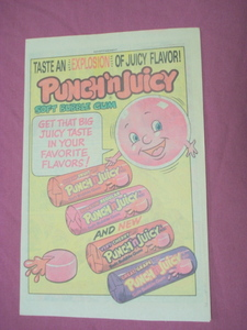 1983 Punch 'n Juicy Soft Bubble Gum Color Ad