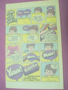 1982 Nabisco Brands Super Yum Grape Bubble Yum Gum