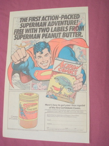 1983 Superman Creamy Peanut Butter Color Ad