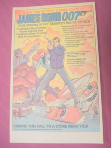 1983 James Bond 007 Victory Role Playing Game Color Ad