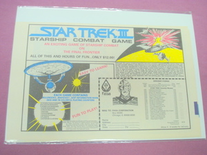 1985 Ad FASA Star Trek III Starship Combat Game