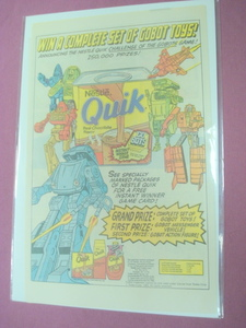 1985 Gobots Ad Gobots Figures and Nestle's Quik