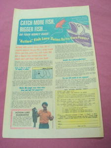 1976 Action Lure Fishing Lures Color Ad