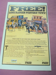 1982 Gabriel Lone Ranger Western Town Color Ad