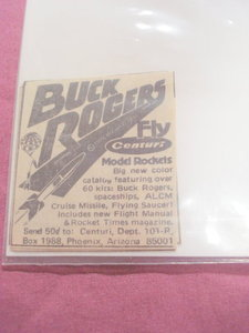 1979 Centuri Rocket Ad Featuring Buck Rogers Kit