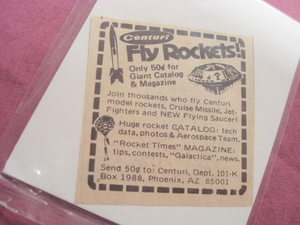 1970's Centuri Rocket Ad Featuring Flying Saucer Kit