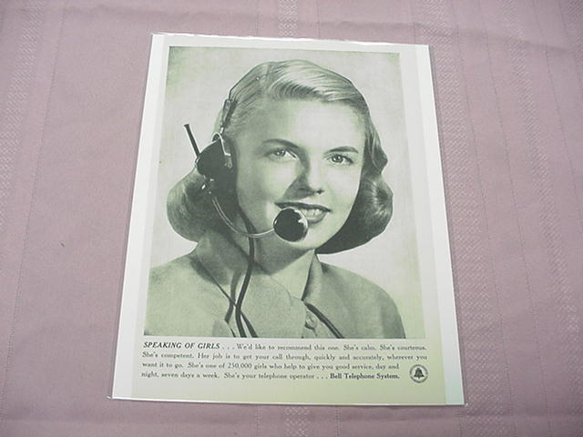1948 Bell Telephone System Ad Speaking of Girls