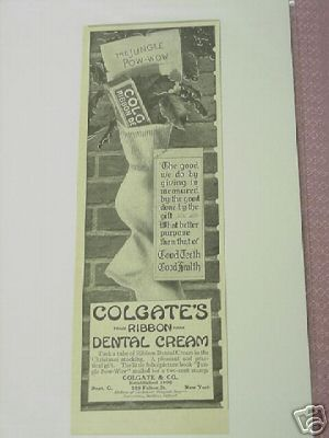 1914 Colgate's Ribbon Dental Cream Ad Toothpaste