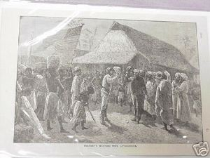 1889 Africa Illustrated Page Stanley Meets Livingstone