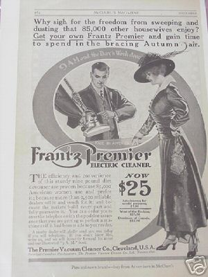 1914 Ad The Premier Vacuum Cleaner Co., Cleveland, Ohio