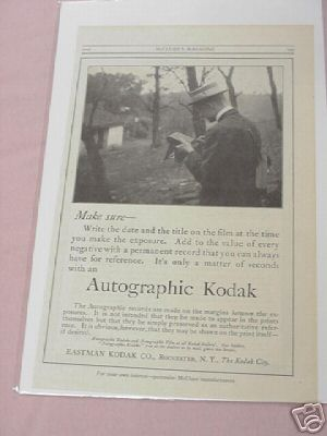 1915 Autographic Kodak Camera Advertisement