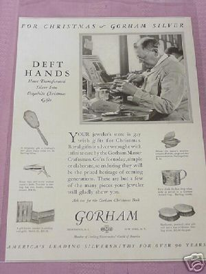 1926 Gorham Silver Christmas Gifts Ad