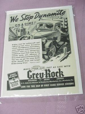 1939 Ad Grey-Rock Brakesets