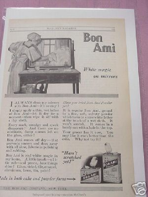 1915 Bon Ami Polishing Cleaner Ad