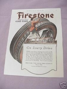 1917 Ad Firestone Super Size Cord Tires