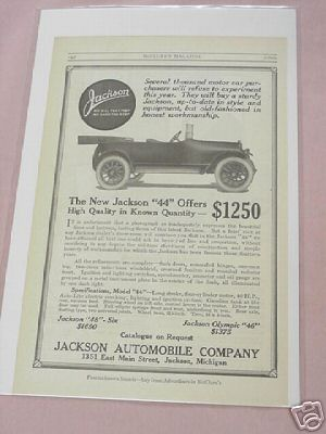 1915 Jackson Automobile Company Ad The New Jackson 44