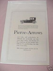1918 Automobile Ad Pierce-Arrow Motor Car Co., Buffalo, N. Y.