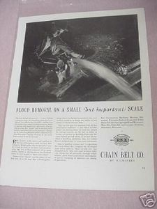 1941 Ad Chain Belt Co. of Milwaukee Rex Pumps Mftr.