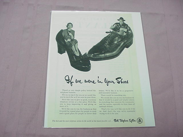 1951 Ad Bell Telephone System If You Were In My Shoes